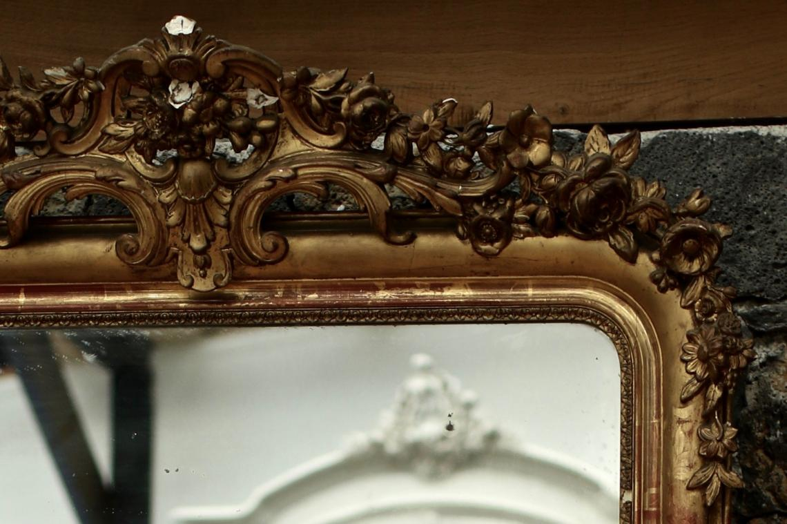 Louis Philippe Crested Mirror