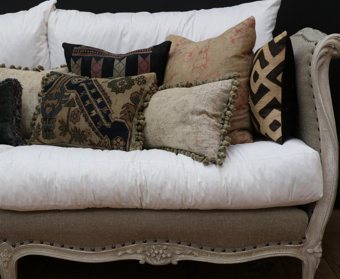 Gorgeous Cushions Made from Vintage / Antique Fabrics / Fragments