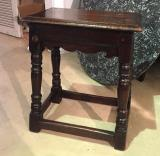 102-90 - English Oak Jointed Stool with Skirt