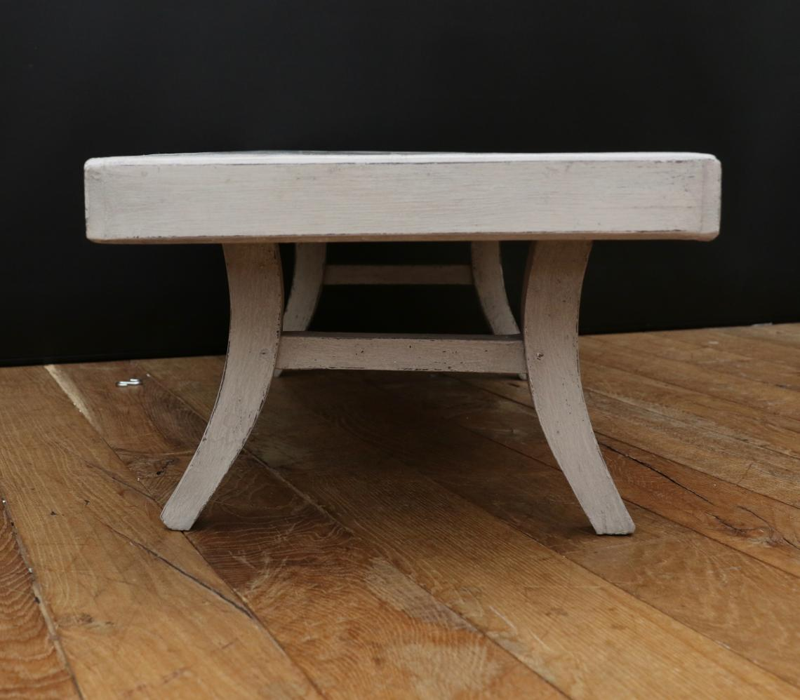 Swedish Gustavian Grey Coffee Table