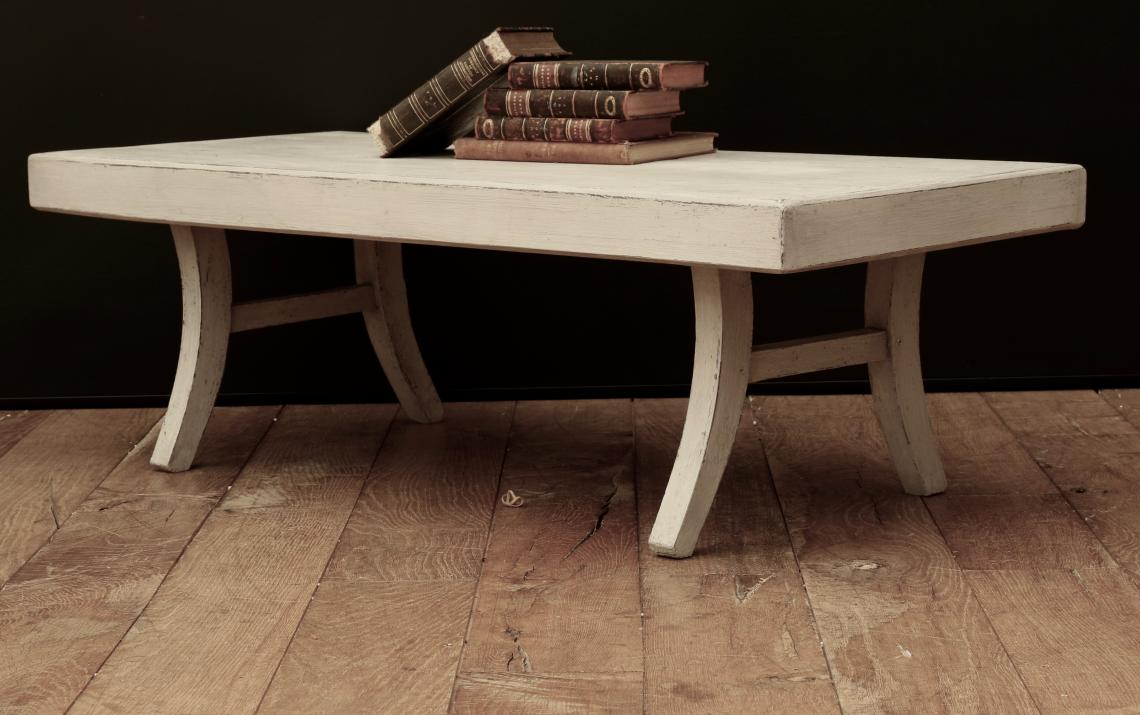 John Stephens Swedish Gustavian Grey Coffee Table