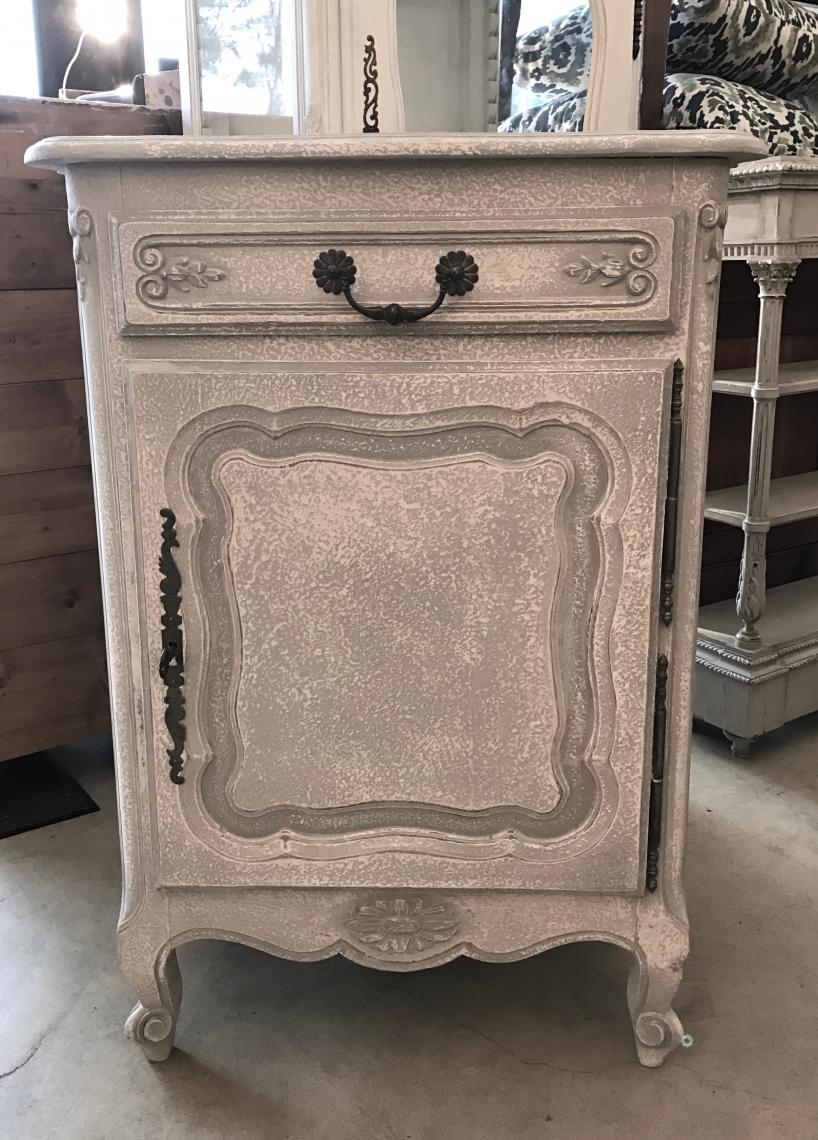 Small French Painted Cupboard