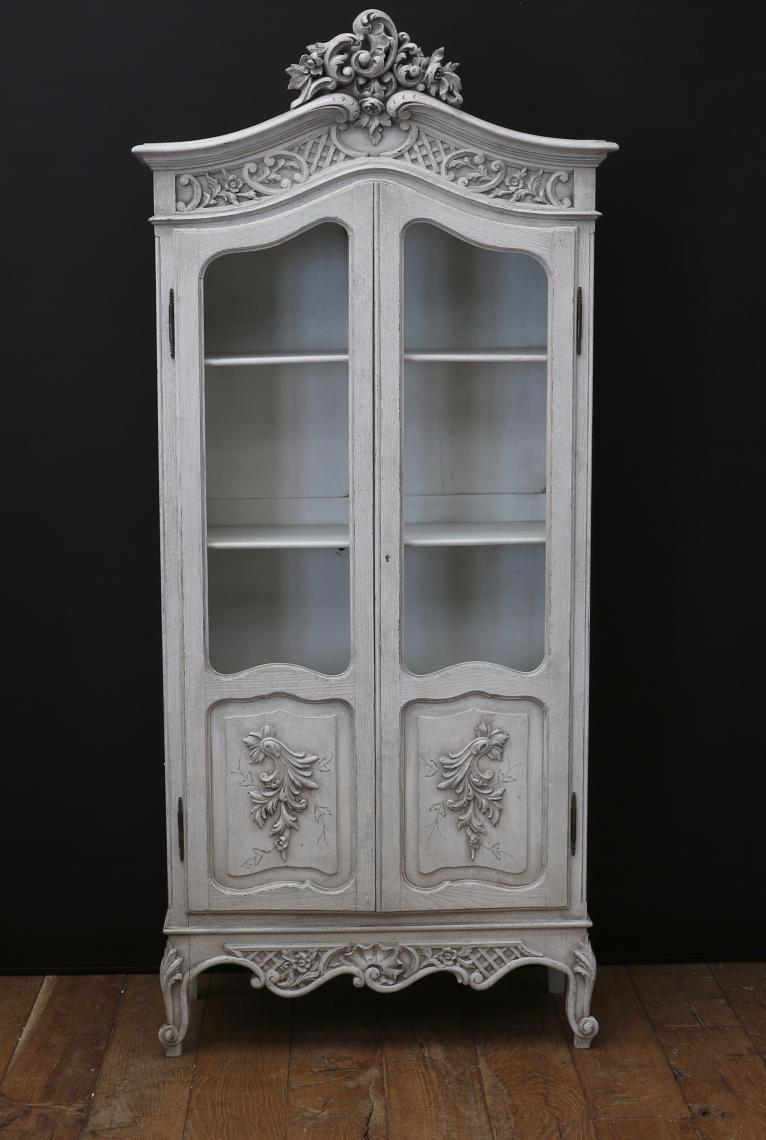 French Painted Armoire or Vitrine