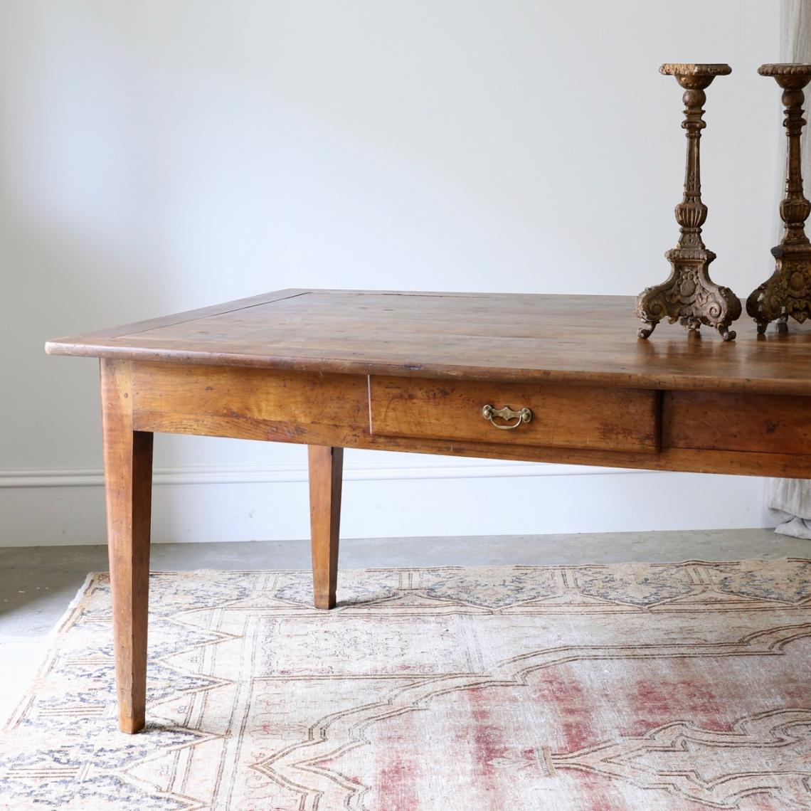 113-01 - Cherrywood French Provincial Dining Table / Three Meters