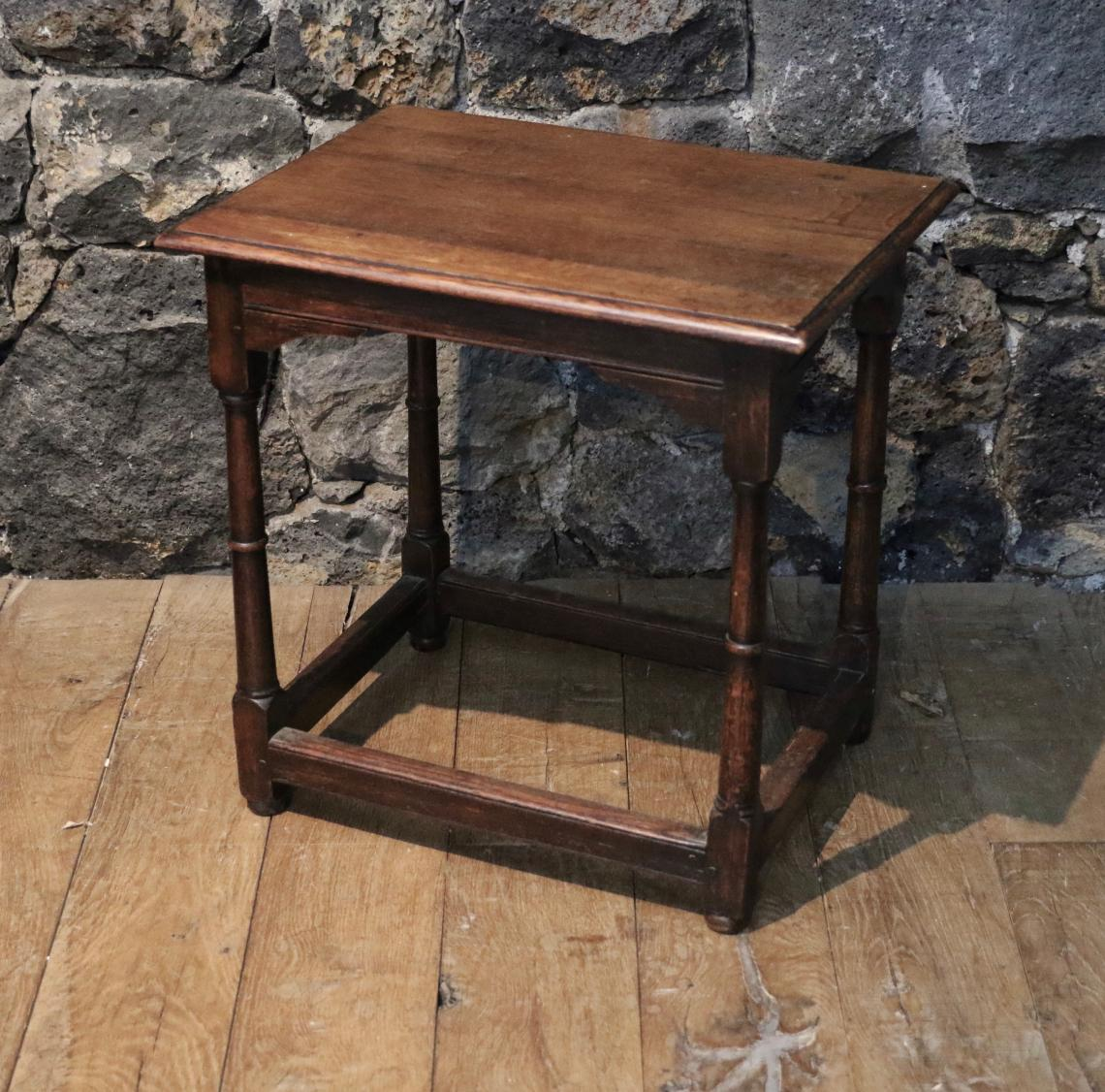Georgian Oak Jointed Stool