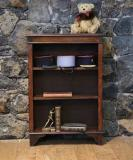 104-75 - Small Georgian Oak Bookcase with Lovely Bracket Feet