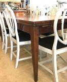 French Provincial Cherrywood Drawer Leaf Extension Table