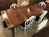 104-94 -  French Provincial Cherrywood Drawer Leaf Extension Table