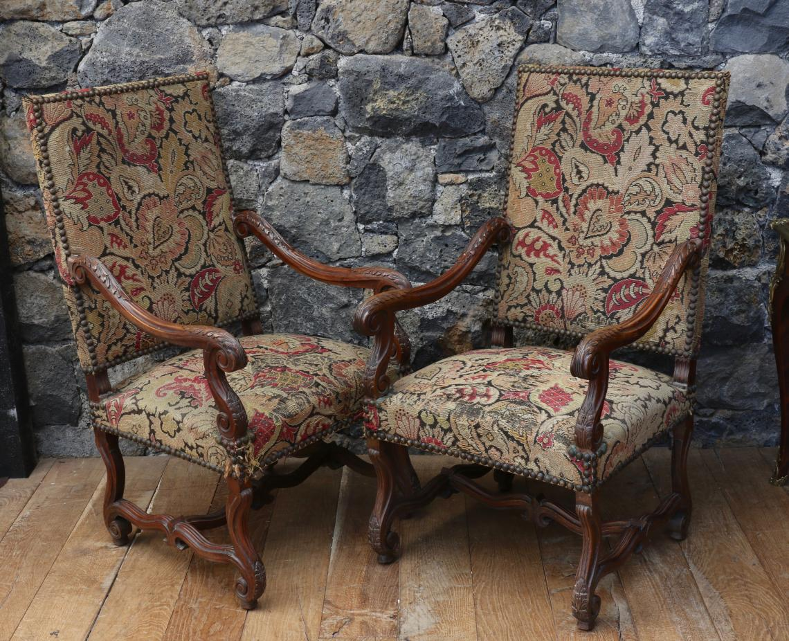 Louis XIV Open Armchairs