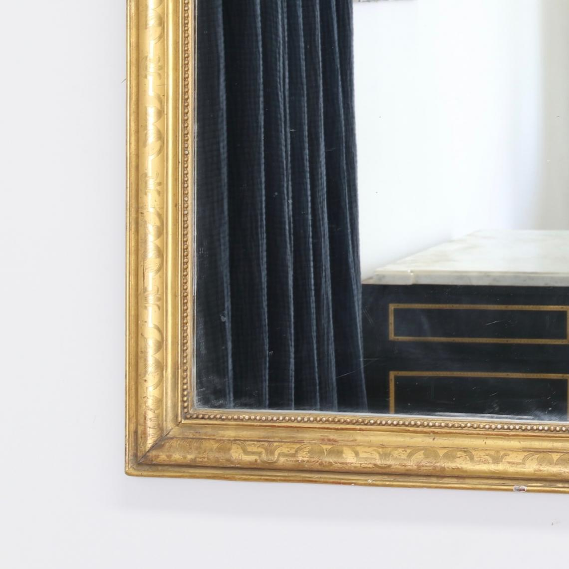 Louis Philippe Mirror with Water Engraving