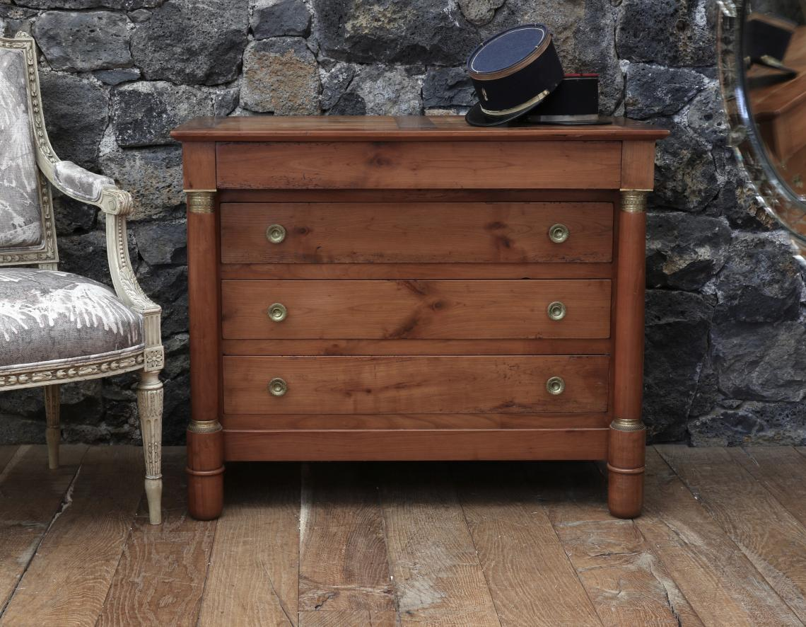 Smaller French Cherrywood Empire Commode