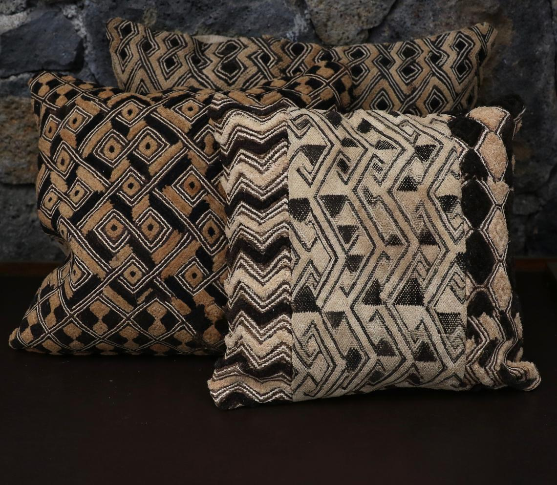 Antique Kuba Cloth Cushions