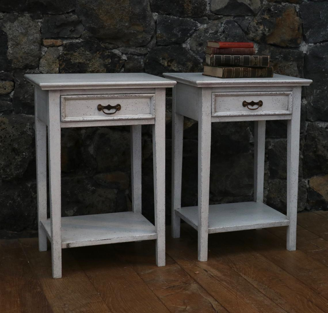 Our Painted Bedside Tables