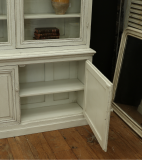 French Provincial Louis Philippe Cupboard and Bookcase