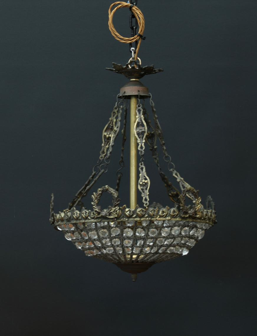 Small Basket Chandelier