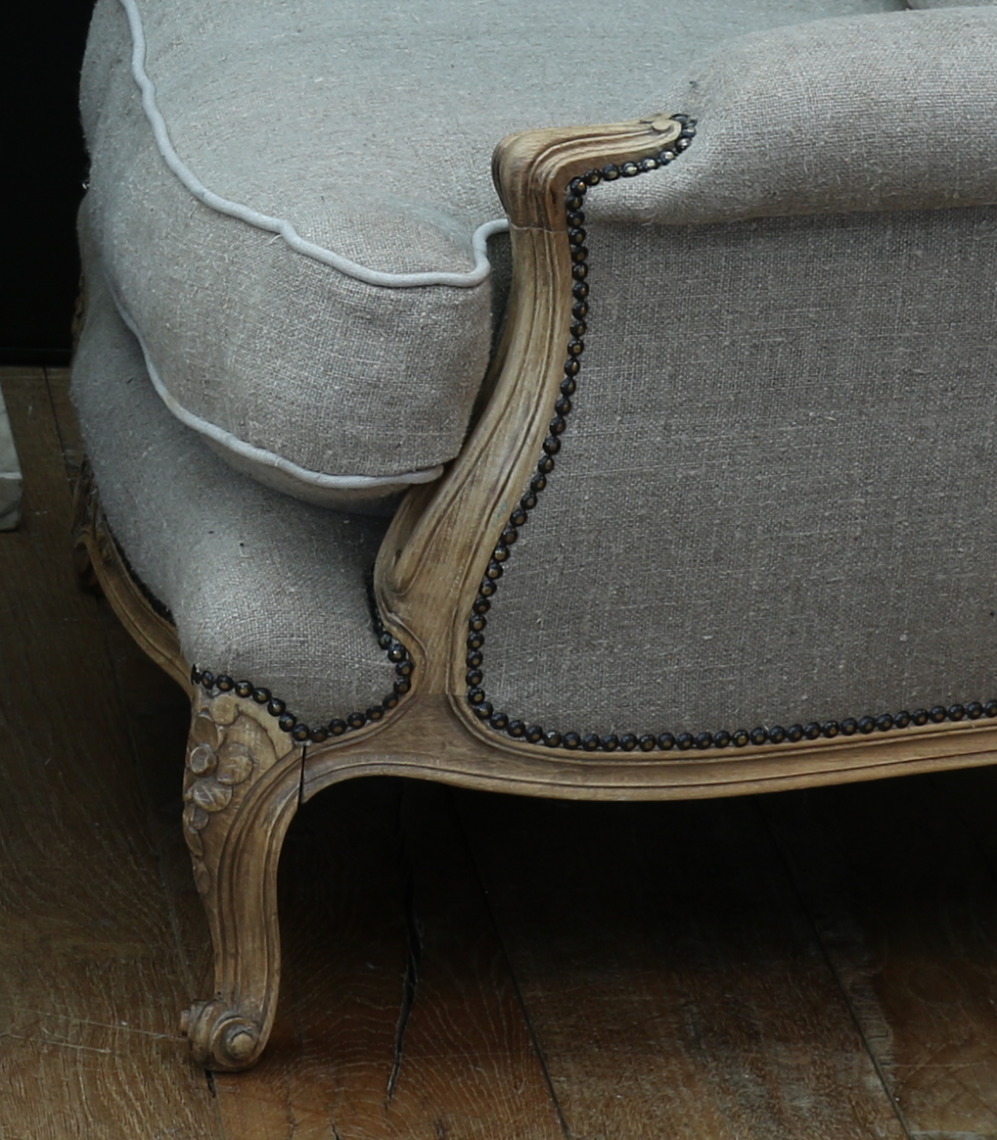 Bleached Louis XV-Style Armchairs