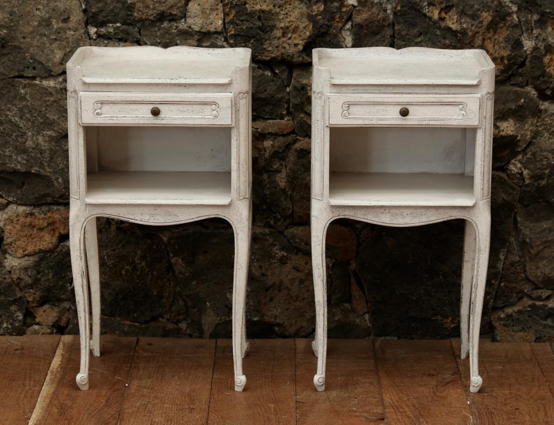 105-91 - Pair of French Bedside Cabinets