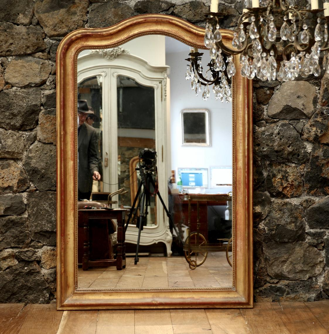 Gendarme Topped Louis Philippe Mirror