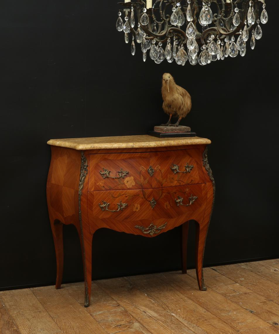 105-99 - Bombe Commode with Italian Marble Top