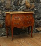 Bombe Commode with Italian Marble Top