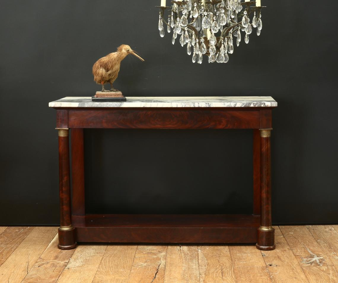 French Empire Console or Petticoat Table