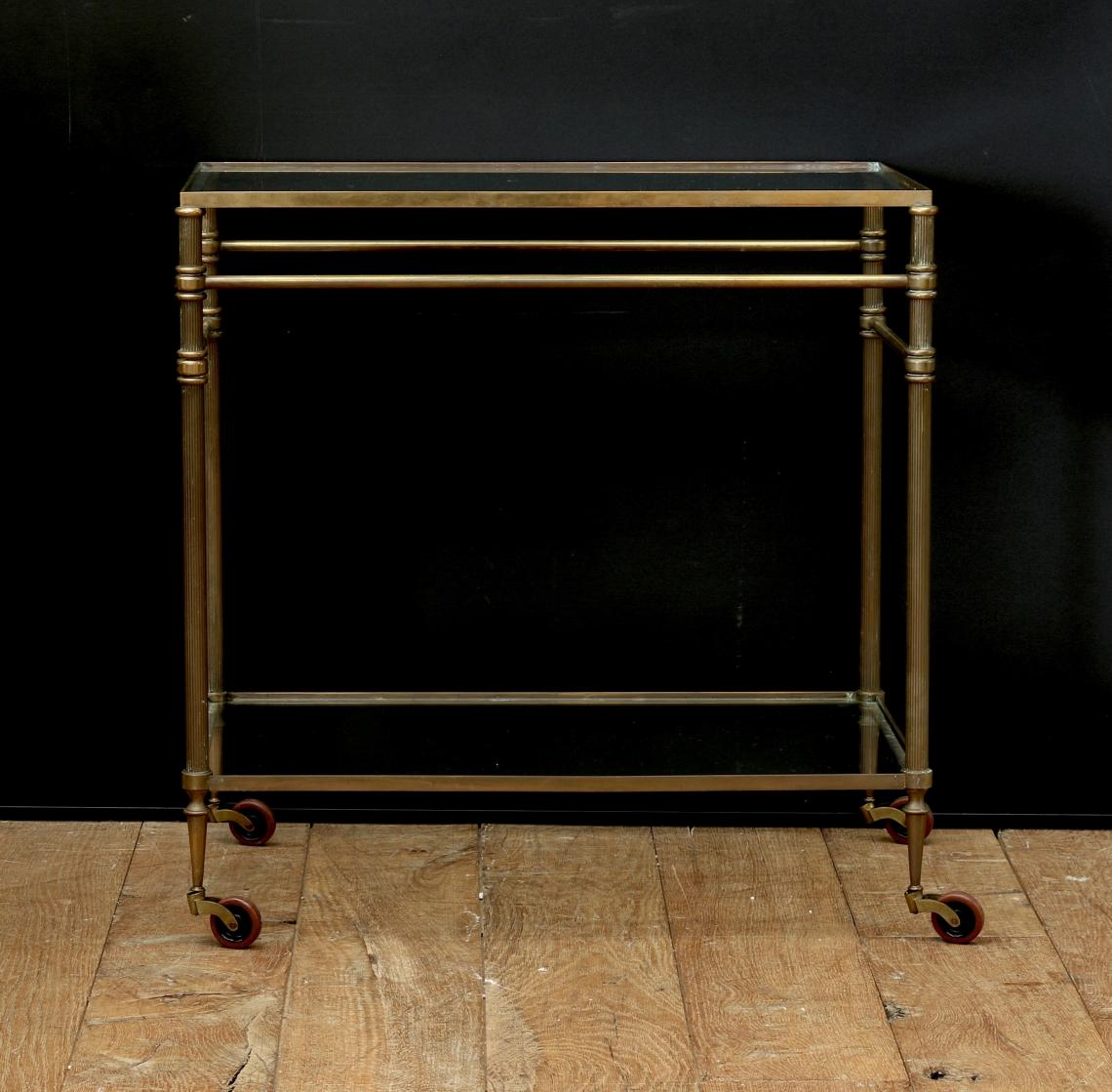 A French Brass Drinks Trolley