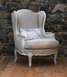 106-49 - Louis XV Style French Wing Chair