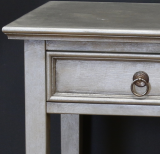 Bedside Table with a zinc finish