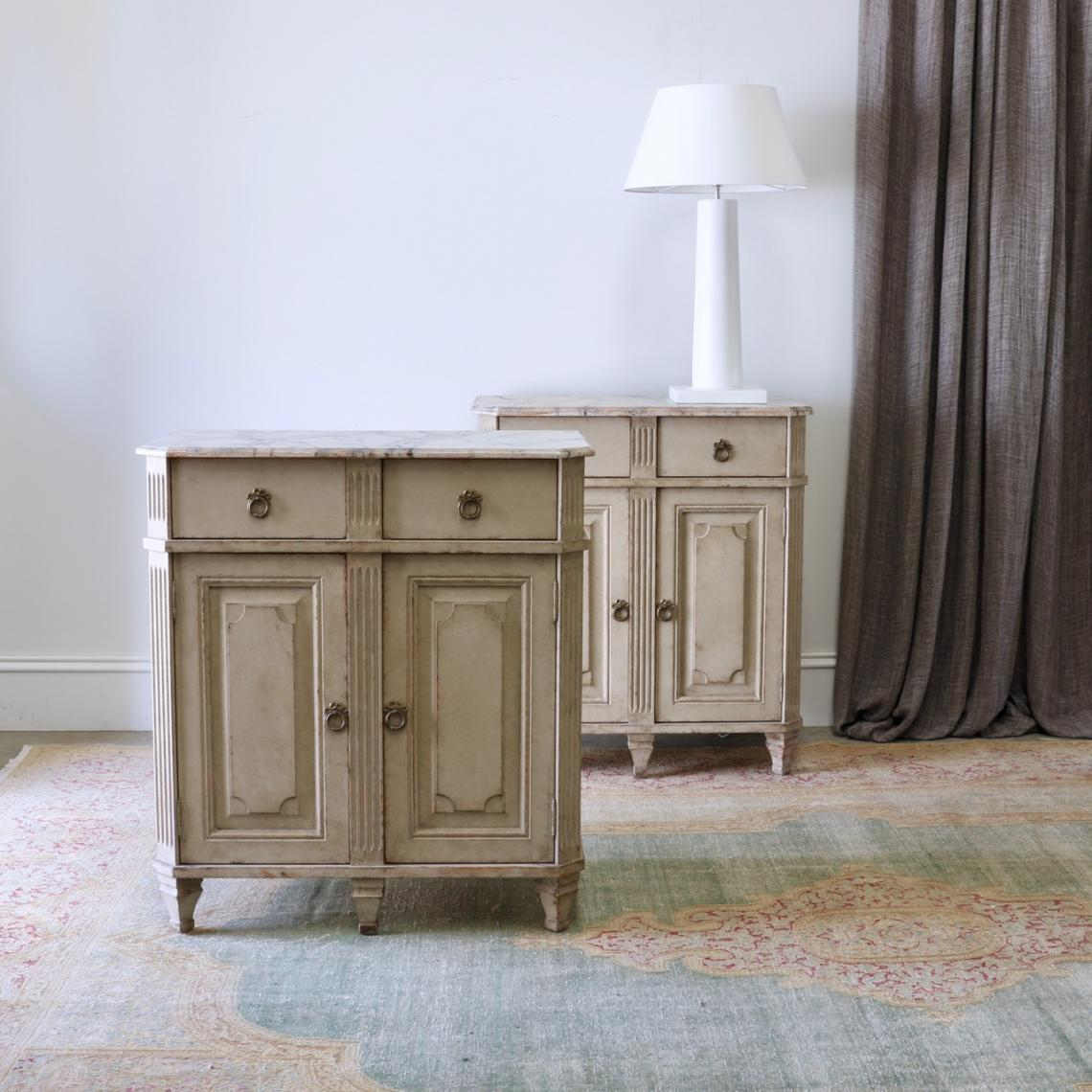 106-60 - Pair of Gustavian Cupboards with Drawers