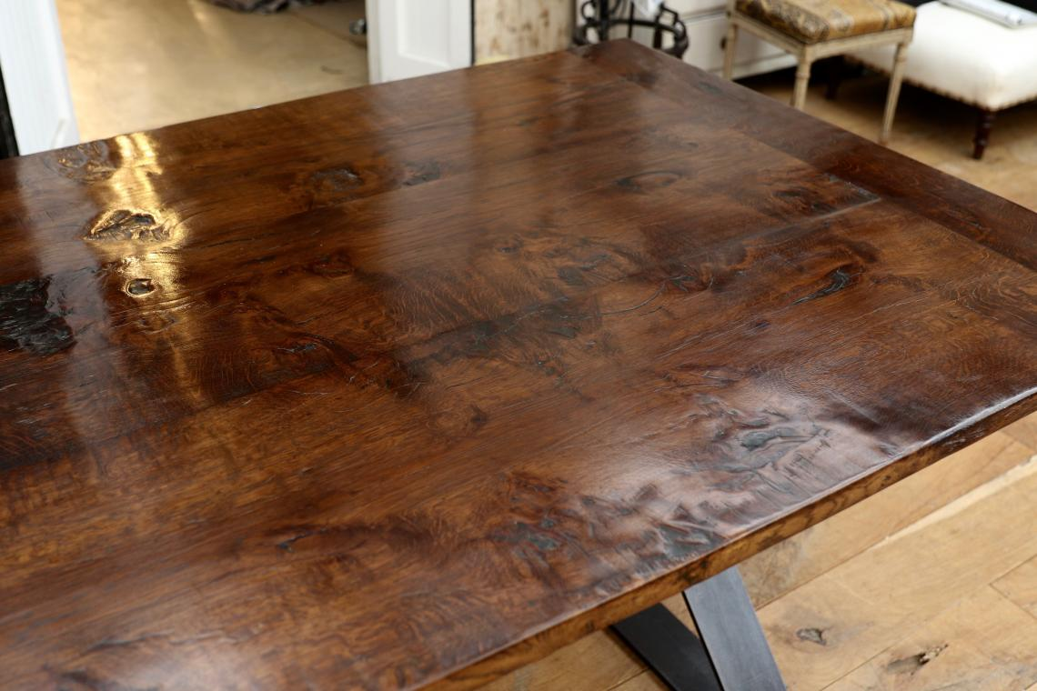 French Timber X-Base Custom Dining Table