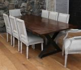 106-80 - French Timber X-Base Custom Dining Table