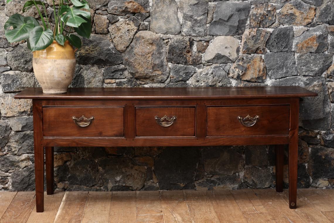 Three Drawer Side Table or Breton Server