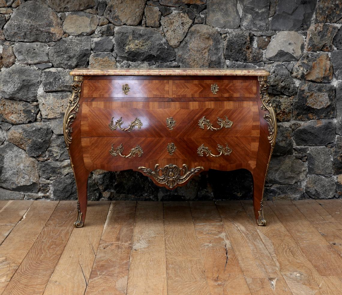 106-94 - French 19th Century Bombe Commode