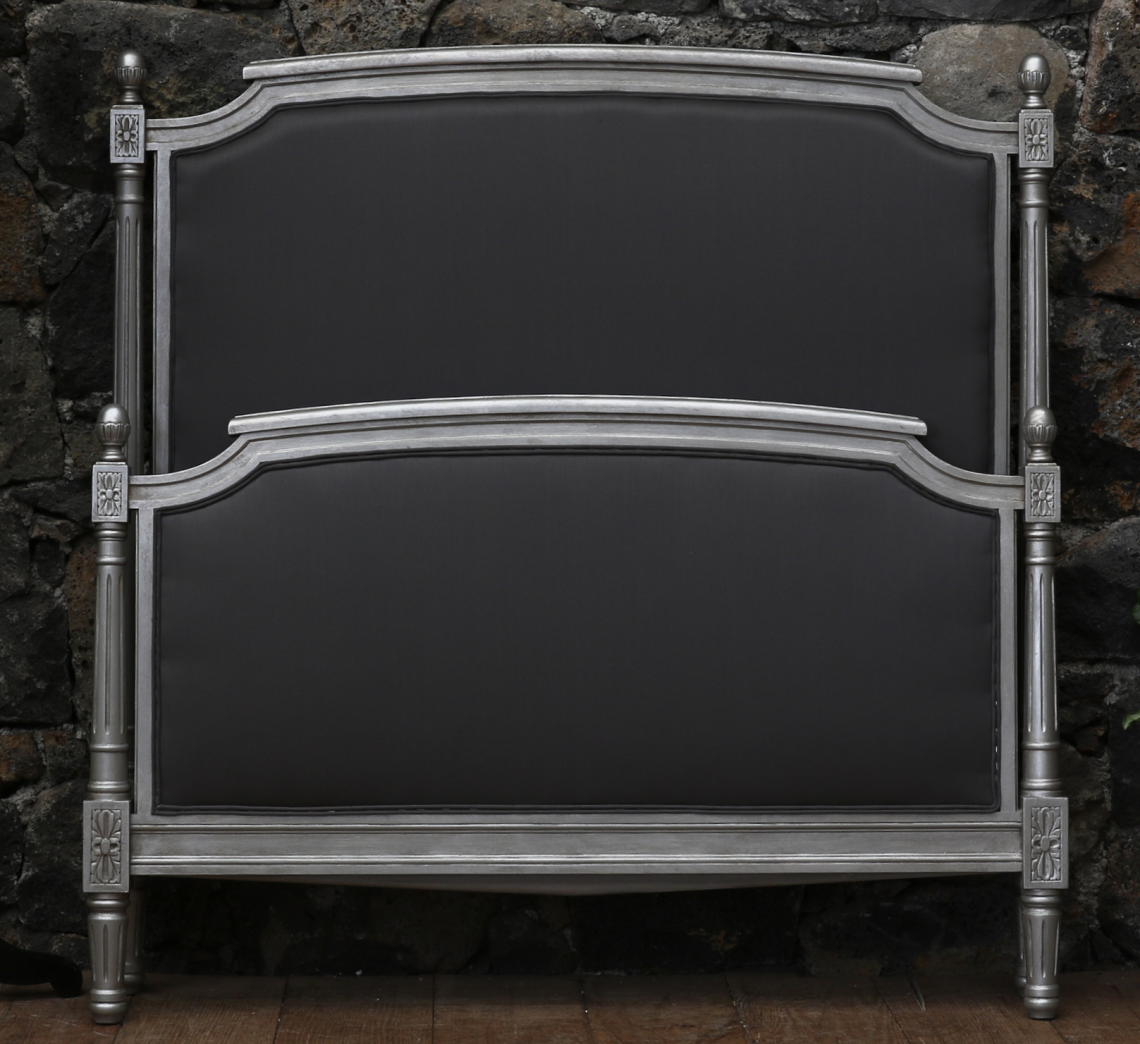 A PAIR of King Single Louis XVI Beds