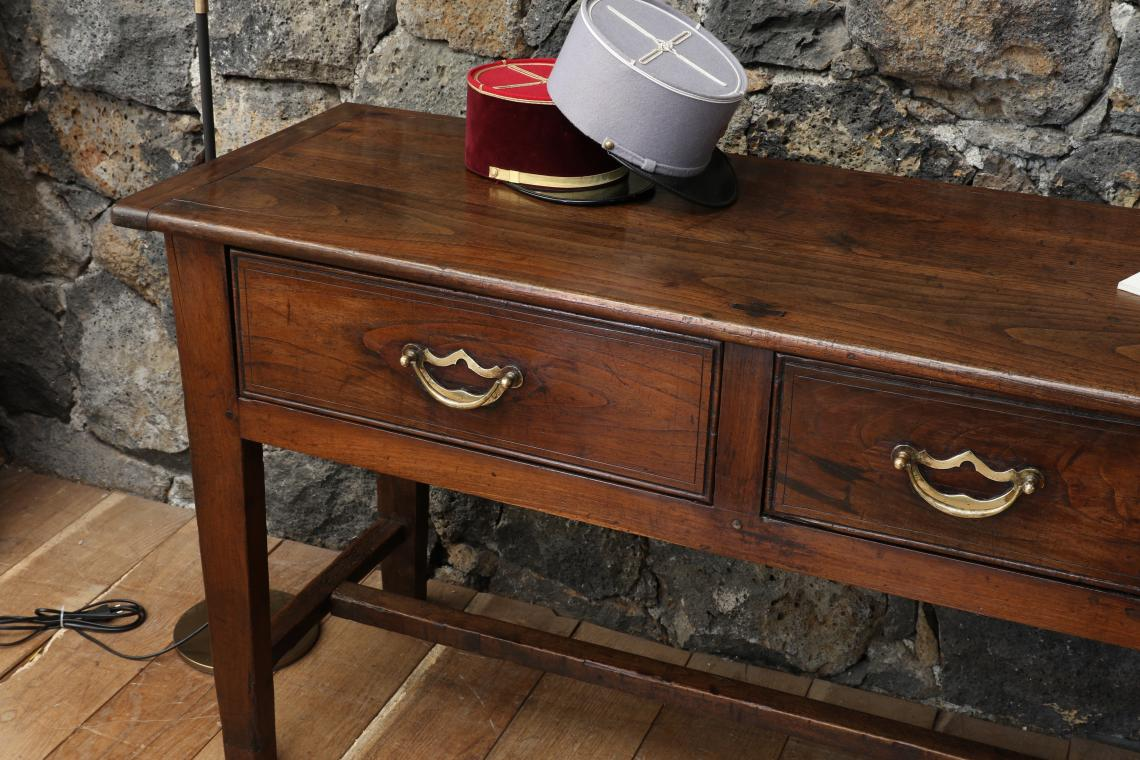 Chestnut Three Drawer Side Table