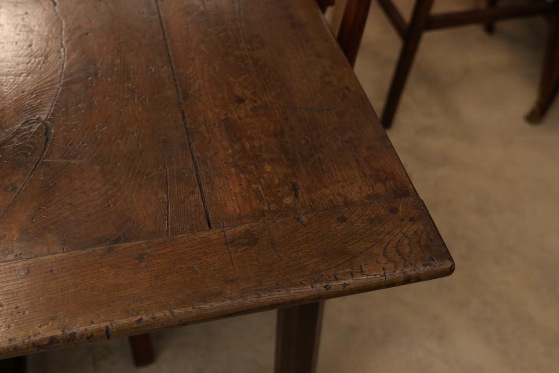 Wide Chestnut French Provincial Dining Table