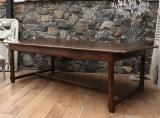 107-24 - Wide Chestnut French Provincial Dining Table