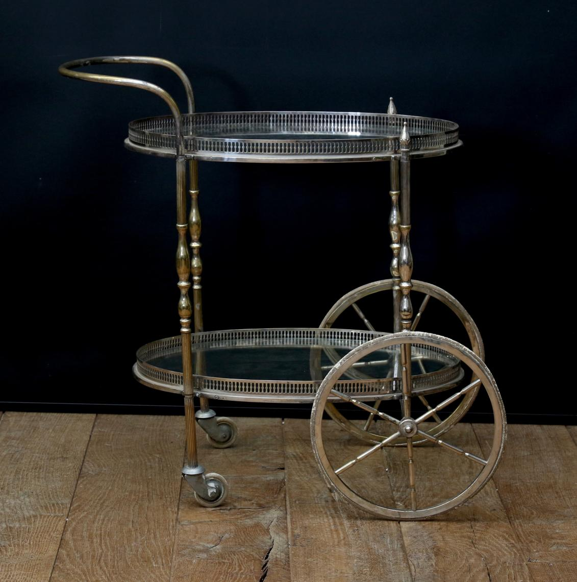 Silver & Gold Drinks Trolley