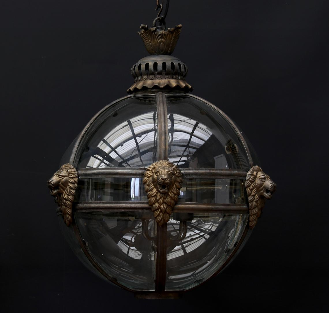 Spherical Globe Lion Lantern