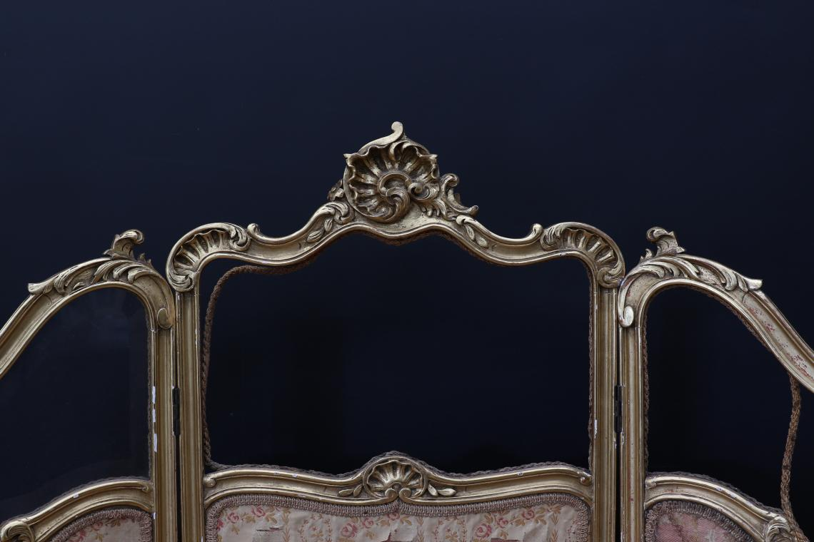 French Gilt Screen