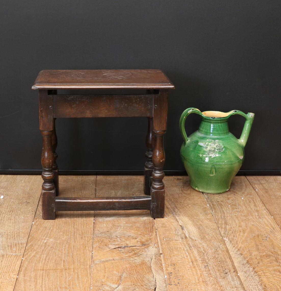 English Oak Jointed Stool