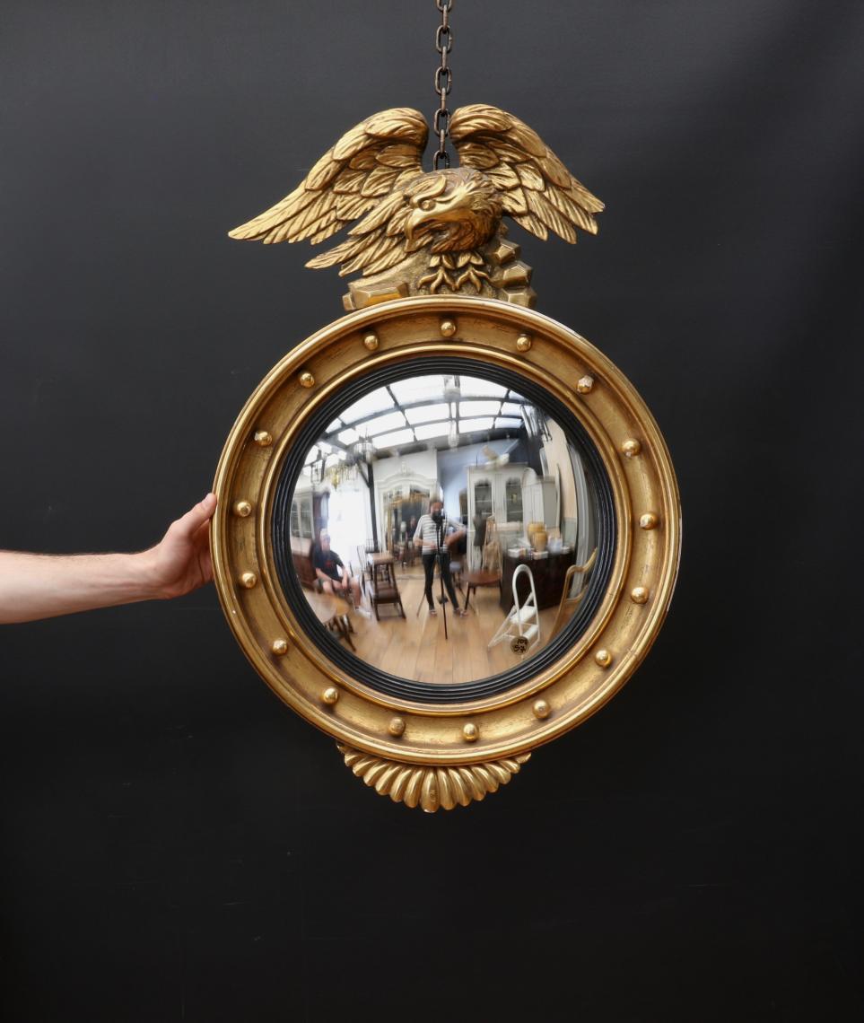 English Empire Convex Mirror
