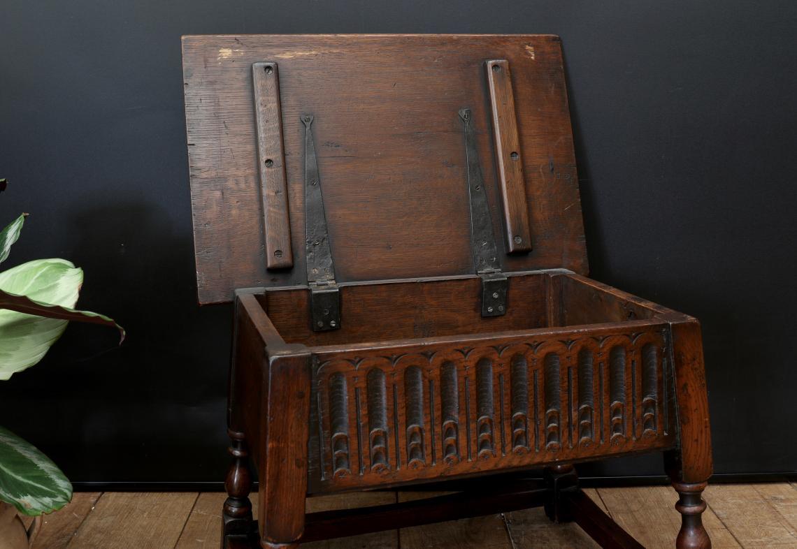 Jacobean Box Stool