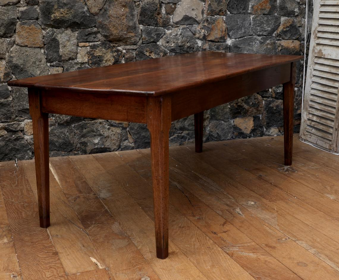 French-Cut Oak Provincial Dining Table