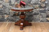 107-86 - Gueridon Table with Black Fossil Stove Top