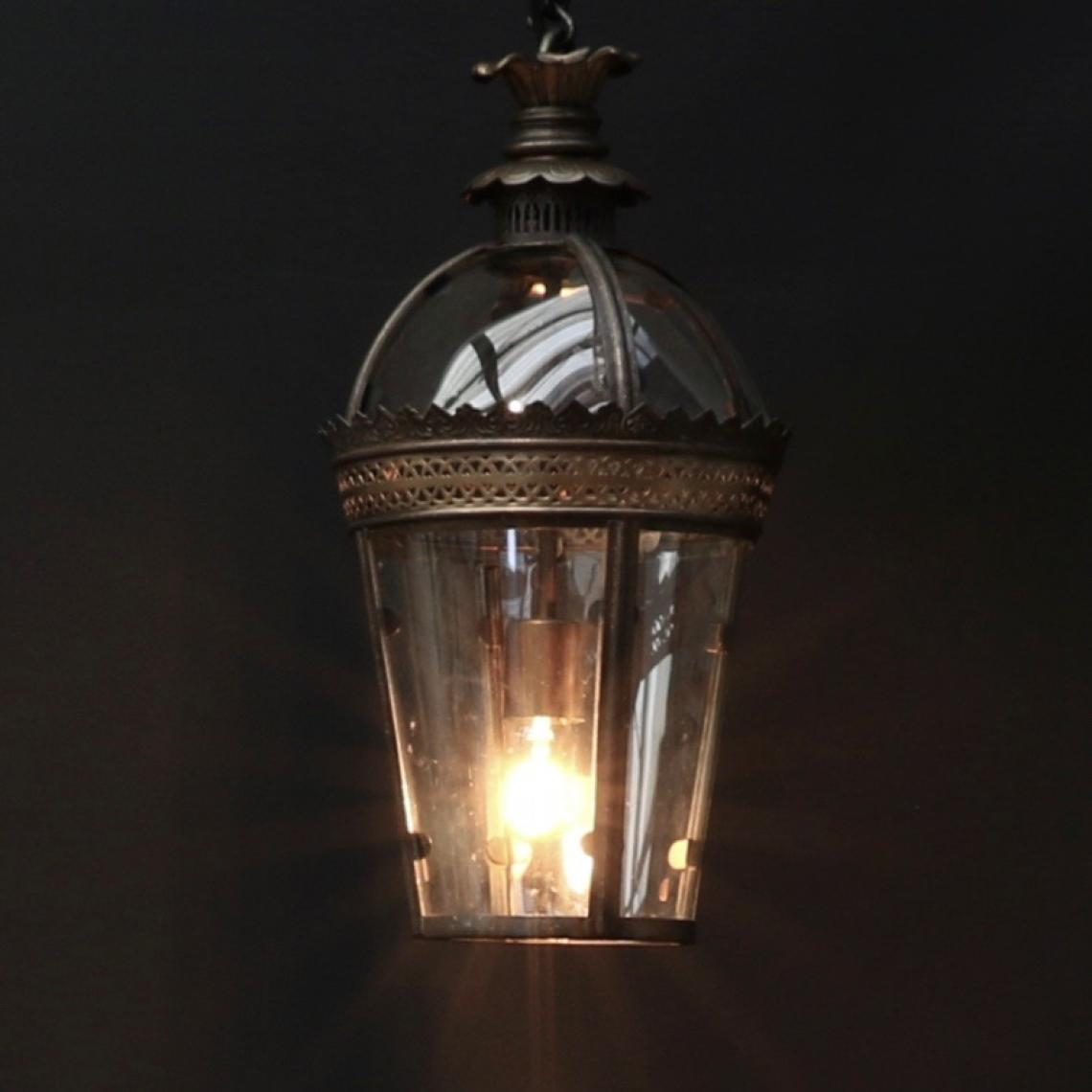 Dome Top Lantern // Antique Brass & Gold