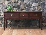 108-16 - Louis XV Dark Cherrywood Side Table or Breton Server