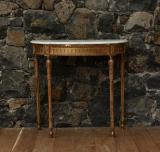 108-27 - Large Gilt Console with Carrara Marble Top