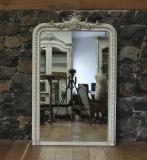 108-48 - Crested White Mirror
