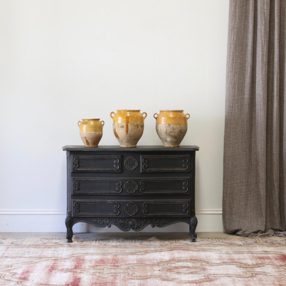 118-35 - Ebonised Chest of Drawers